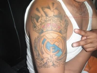 Color ink real madrid c f football logo tattoo for Real madrid tattoos
