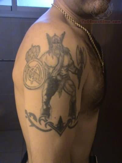 Real madrid tattoo images designs for Tribal warrior tattoos