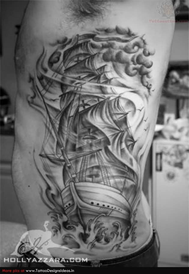 ship designs tattoo pirate tribal tattoo pirate rib pirate grey tattoo ship pirate ship and ribs ship