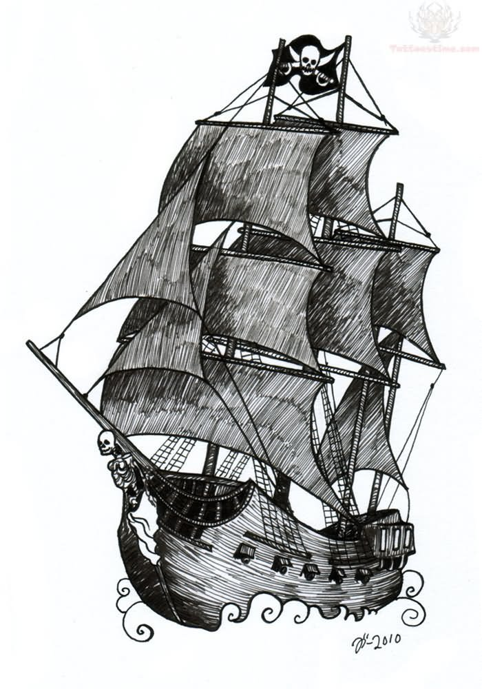 Gallery For gt Pirate Ship Tattoo Designs Women