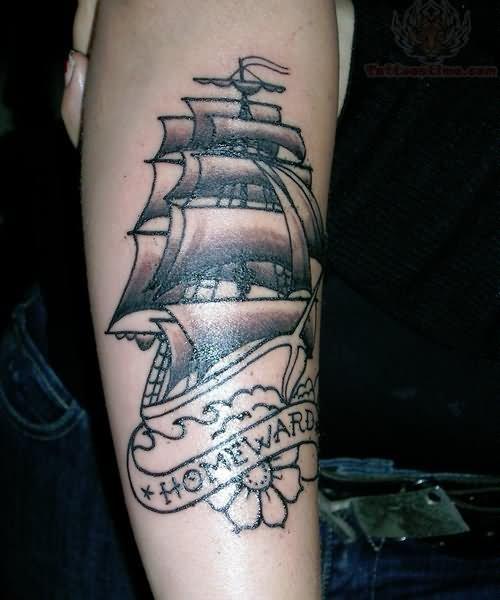 Tattoo Designs Pirate Ships: Pirate Ship Tattoo Images & Designs