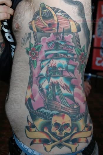pirate ship tattoo images  u0026 designs