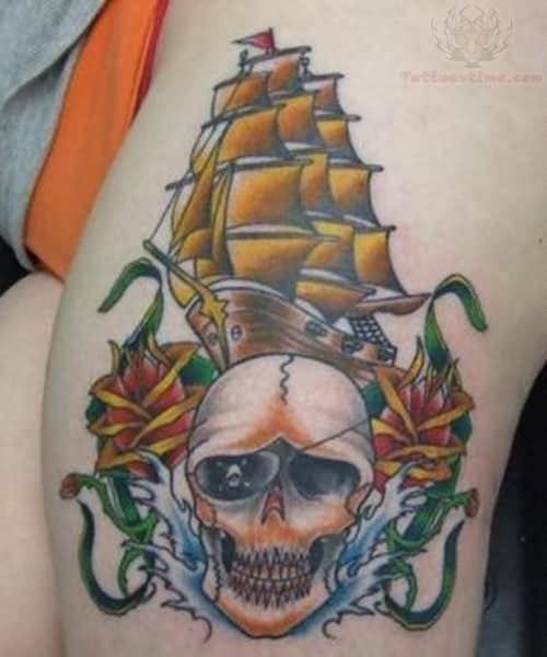 Pirate Ship Tattoo Images & Designs