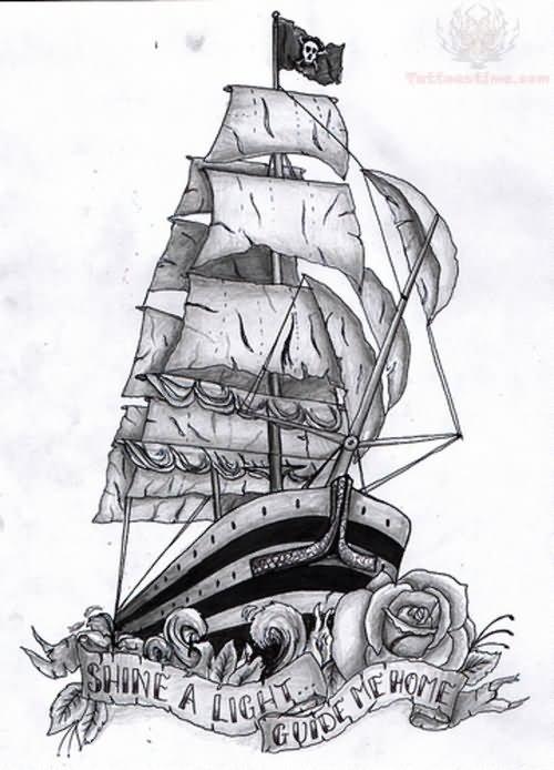 Pirate Ship Tattoo Design: Pirate Ship Tattoo Images & Designs