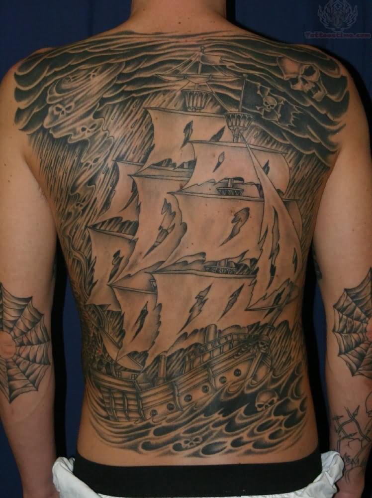 Tattooed Soloist Whacking Off