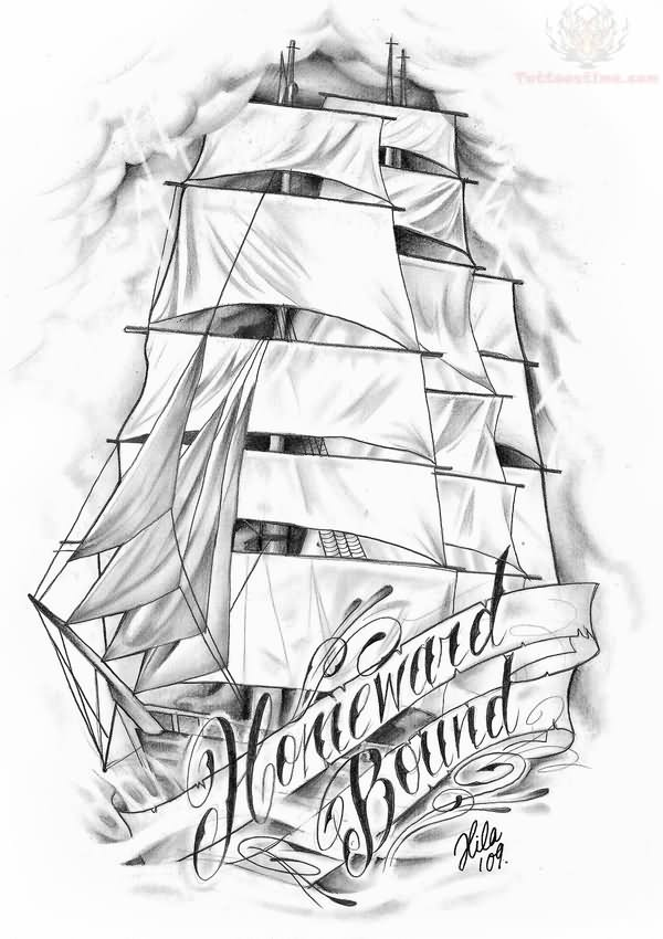 Boat Tattoo Outline Pirate Ship Images amp Designs