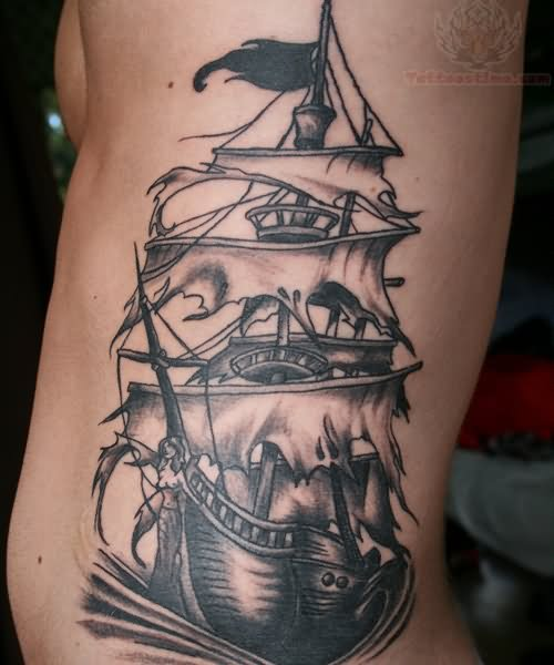 Blackbeard pirate ship tattoo - photo#20