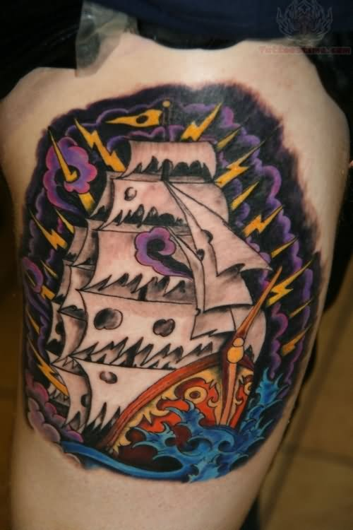Traditional Pirate Ship Traditional Pirate Tattoo Sleeve