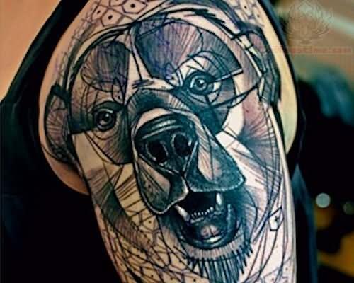 Craft Bear Head Tattoo...