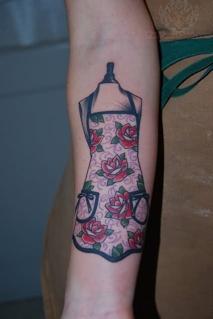 Colorful craft tattoo on half sleeve for Ink craft tattoo