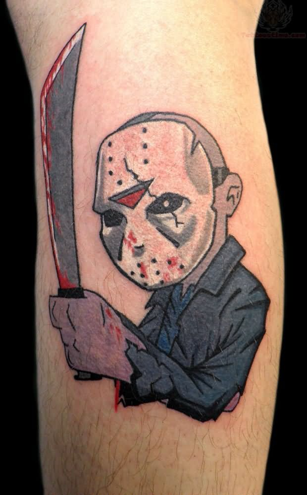 Jason Vorhees Cartoon Tattoo