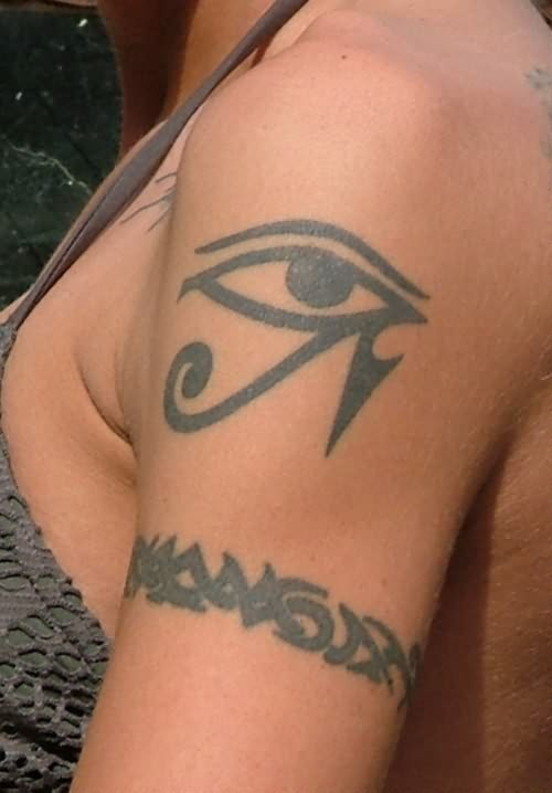 Tribal Band And Eye Tattoo