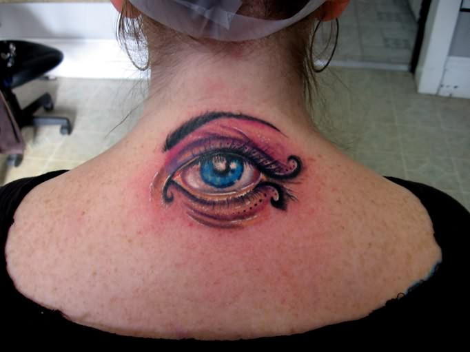 Wonderful Eye Tattoo On Back