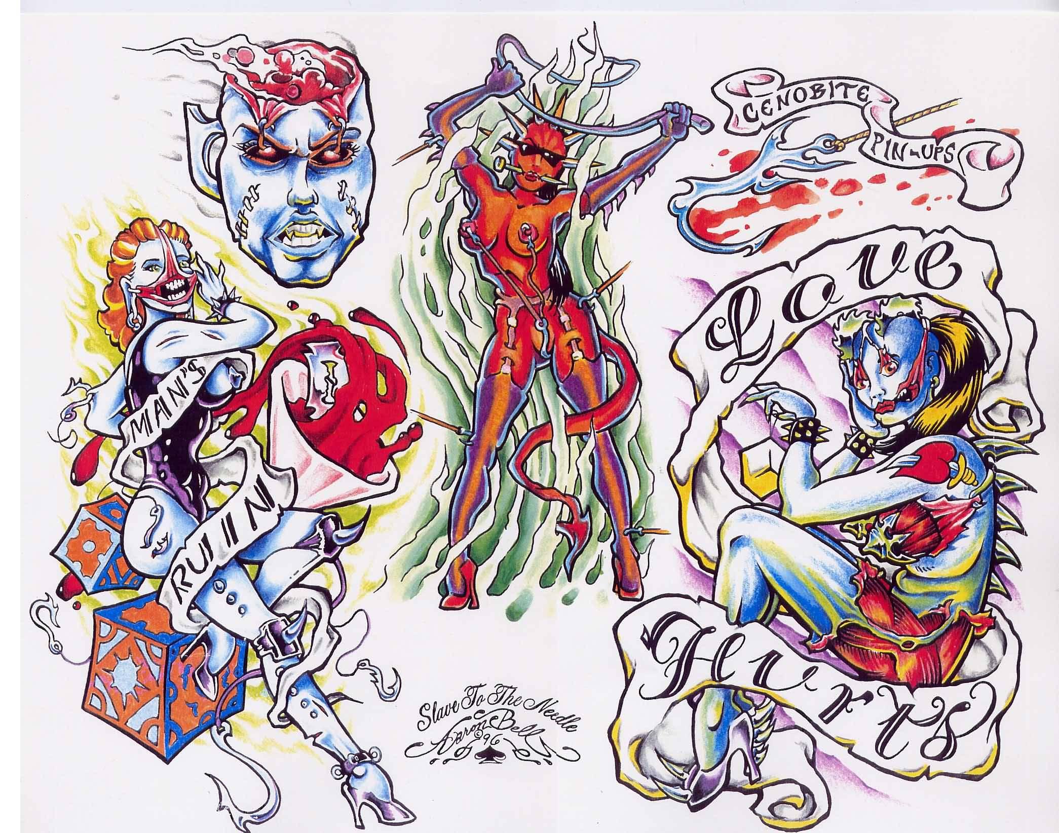 Evil Tattoo Outline Designs