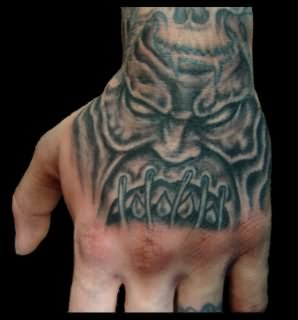 Evil tattoo images designs for Evil faces tattoos