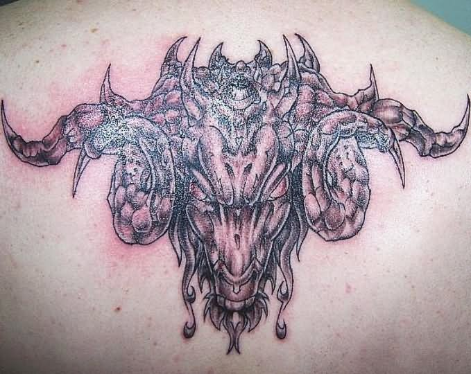 Evil goat tattoo - photo#6
