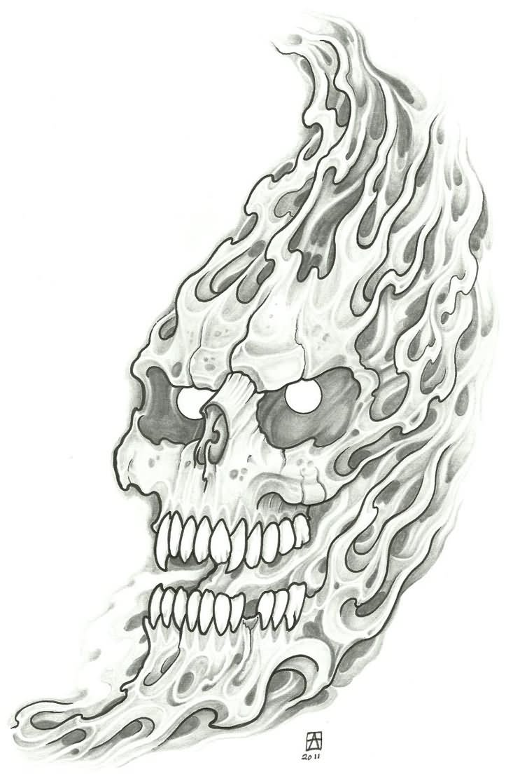 Wicked Skull Tattoo Designs Images amp Pictures Becuo