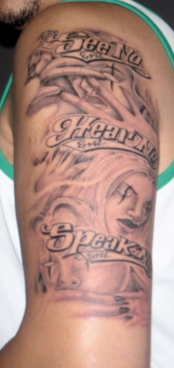 see no hear no speak no evil tattoo