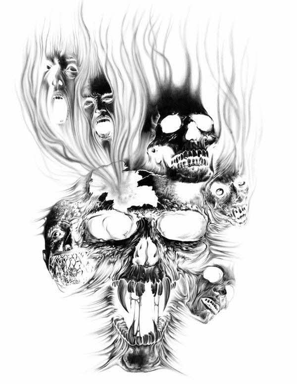 Drawings Pin Evil Skull Tattoos Designs And Ideas On Pinterest