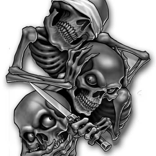 Skulls Evil Tattoos Design