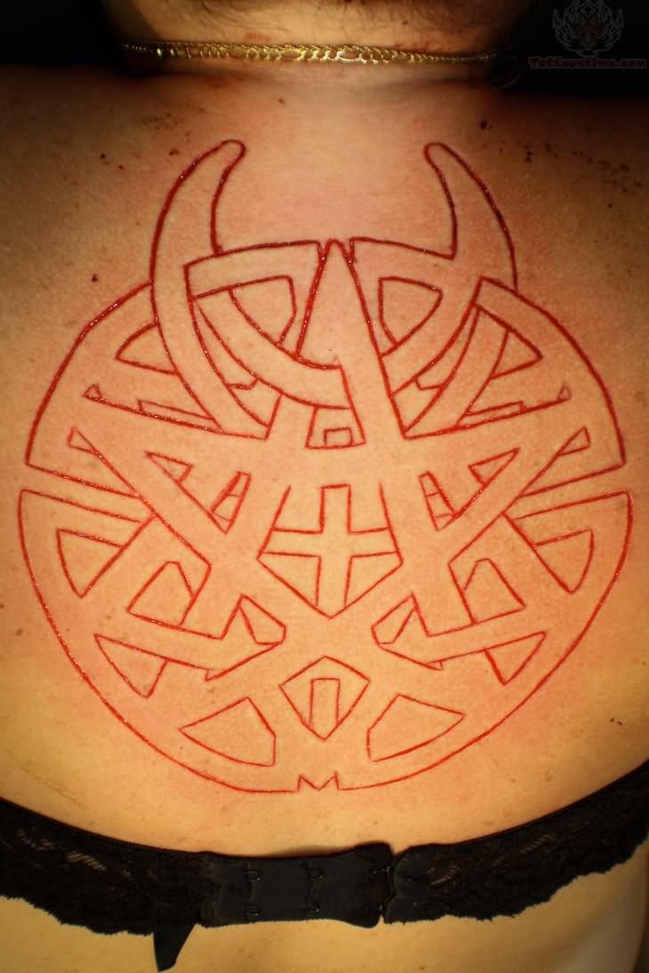 Pentagram Scarification Tattoo