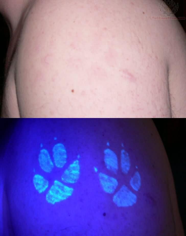 Paramid Eye UV Tattoo On Palm