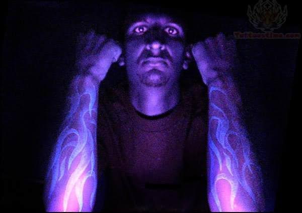 Tribal Flames Uv Tattoos
