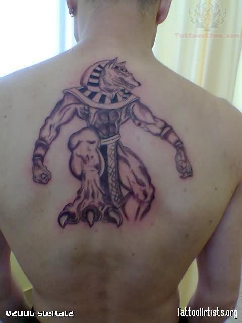 Upperback Anubis Egyptian Gods Tattoo  Upperback Anubi...