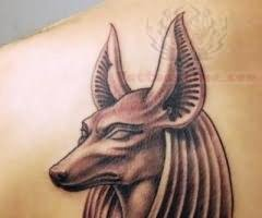 Head Anubis God Tattoo Image