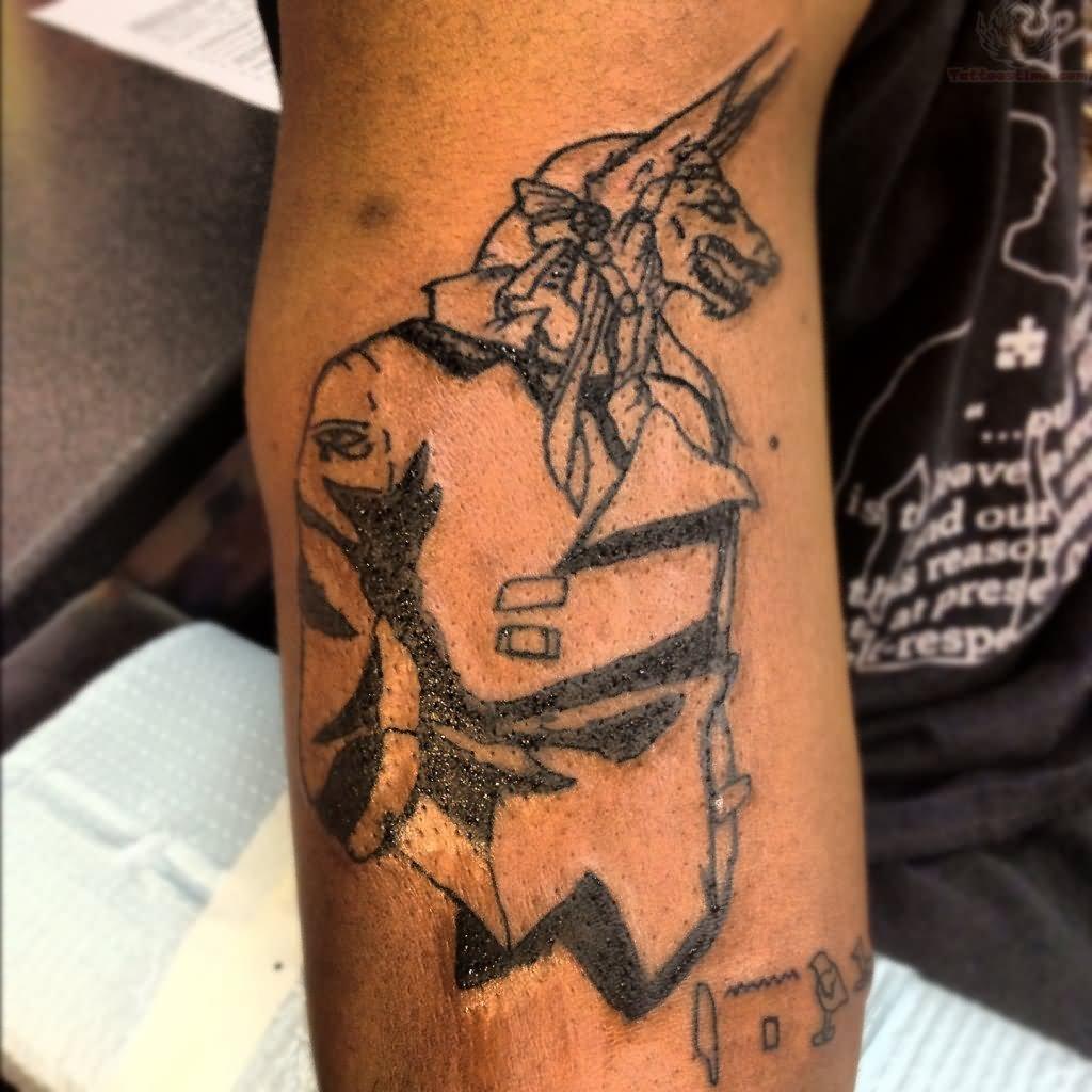 Egyptian Anubis Outline Tattoo Design
