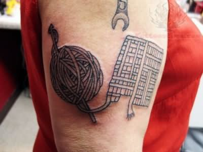 Spanner And Yarn Tattoo