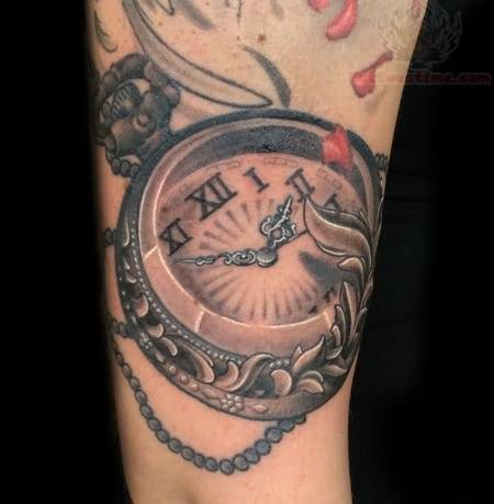 Watch tattoo images designs for Pocket watches tattoos