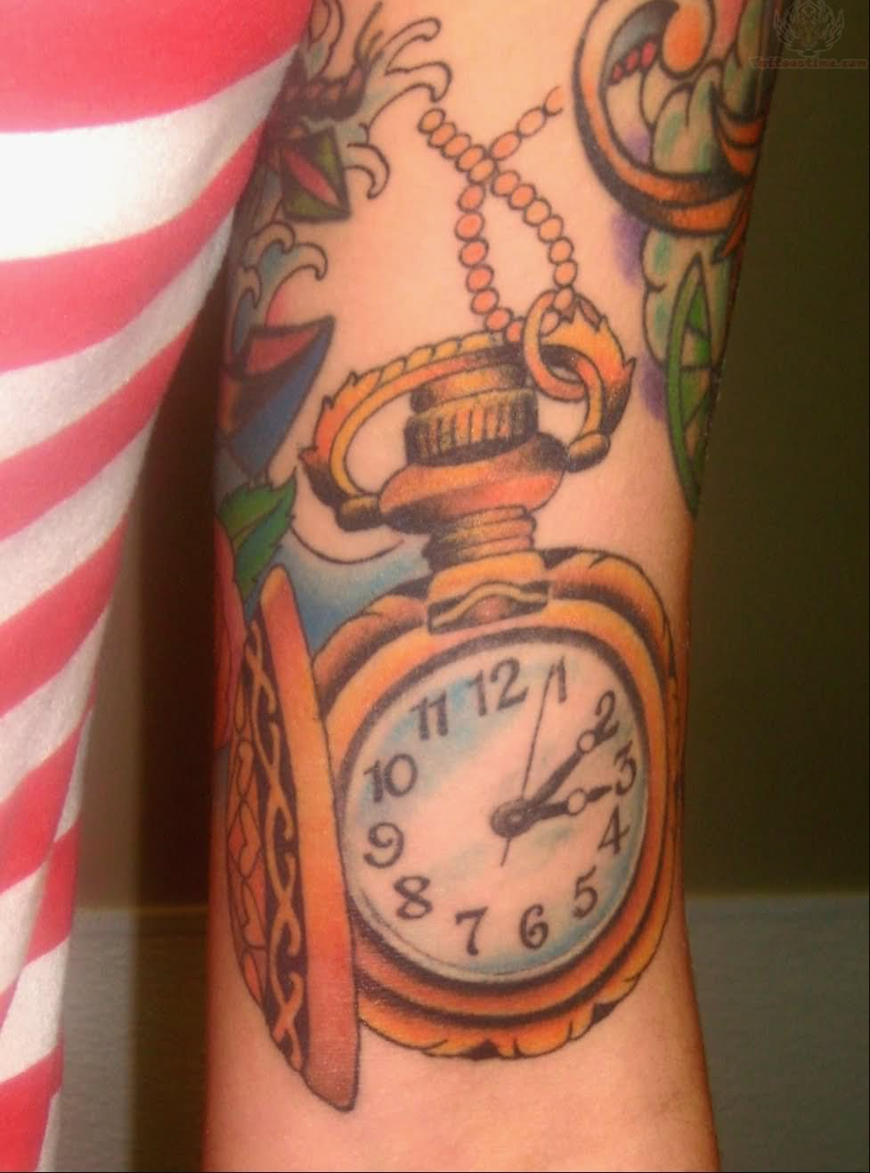 Watch Tattoo Images & Designs