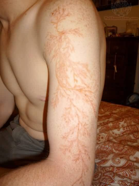 Henna Tattoo On Half Sleeve