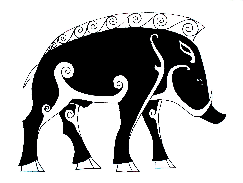 Black boar tattoos design buycottarizona Images