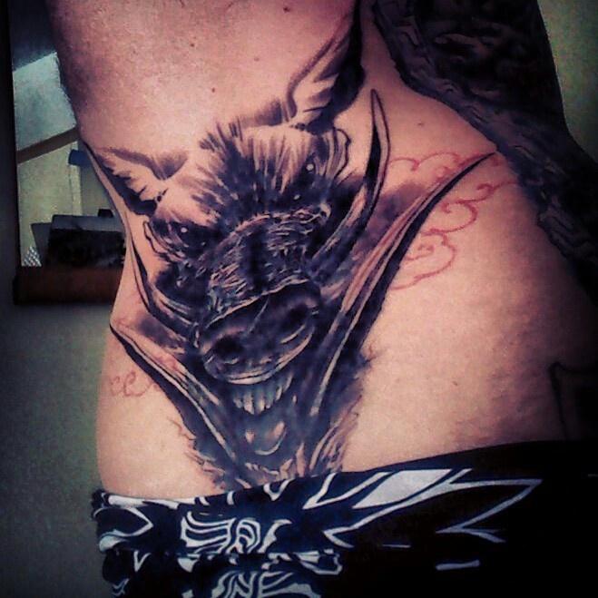 Wild boar head tattoo