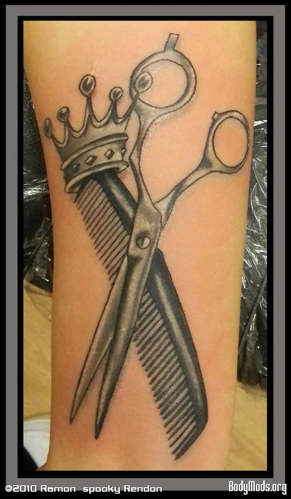 Ножницы парикмахерские тату