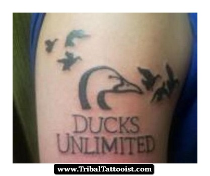 ducks unlimited tribal duck tattoo. Black Bedroom Furniture Sets. Home Design Ideas