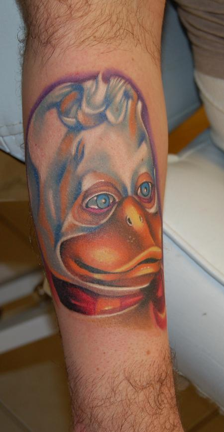 howard the duck 3d tattoo on arm. Black Bedroom Furniture Sets. Home Design Ideas