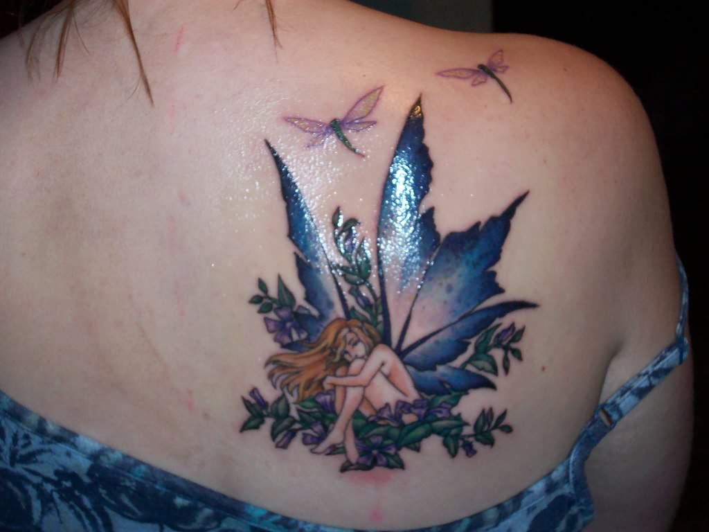 Amazing Fairy Tattoo For Girls
