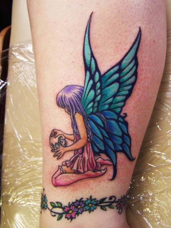 Big Wings Fairy Tattoo