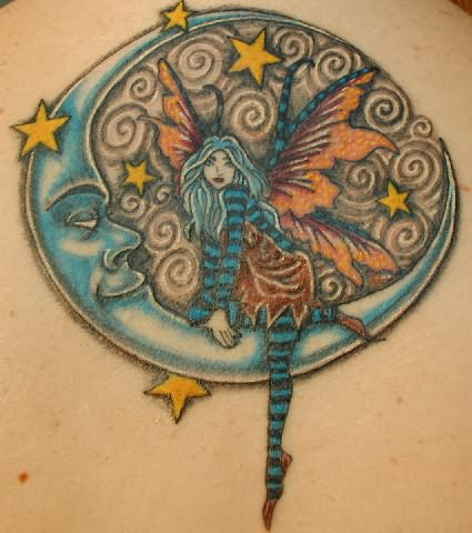 Moon Fairy Tattoo