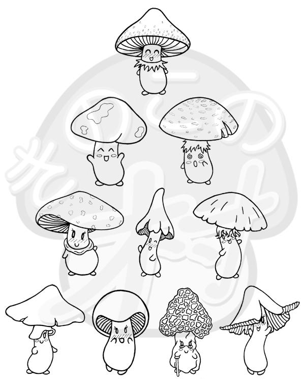 Mushroom Tattoo Images Amp Designs