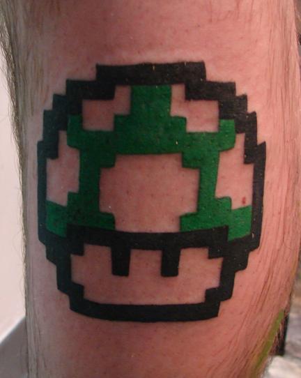 Animated Mario Tattoo