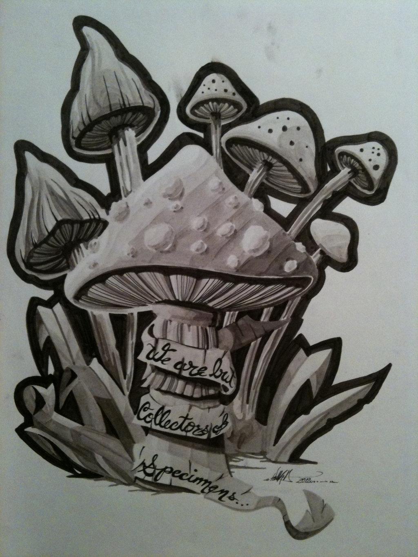 Fantasy Mushroom Tattoo Designs Images amp Pictures Becuo