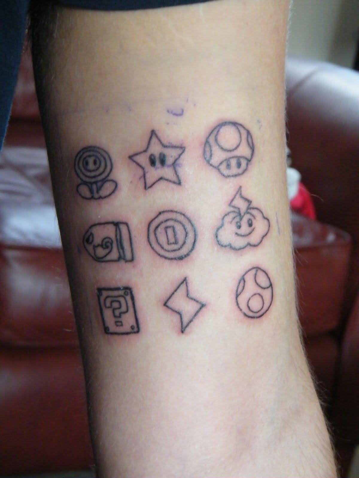 Mushroom Grey Ink Tattoo