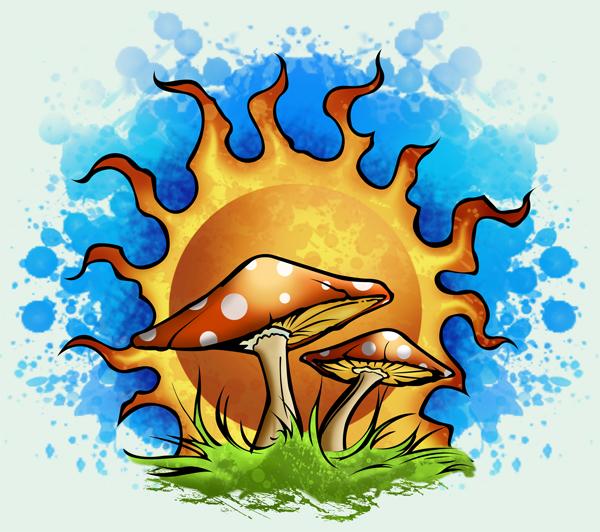 Trippy Cartoon Mushrooms Pin Mushroom On Pinterest