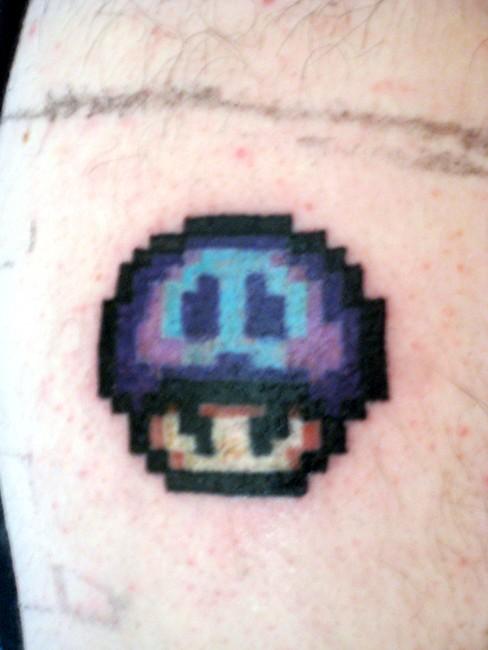 Super Mario Poisonous Mushroom Tattoo