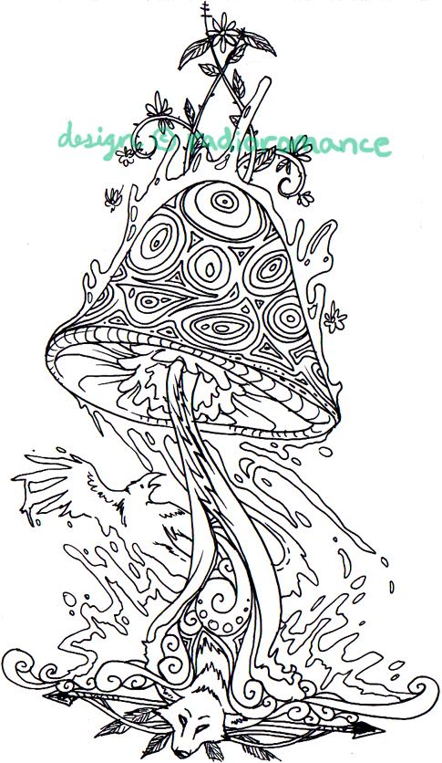 Designs Shrooms Pin Trippy Mushroom Art Magic People By On Pinterest