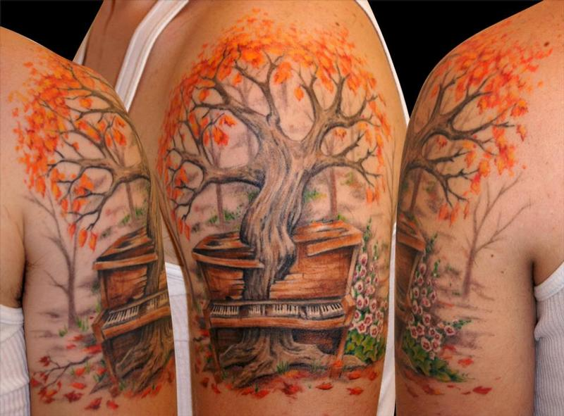 Maple tree tattoo gallery